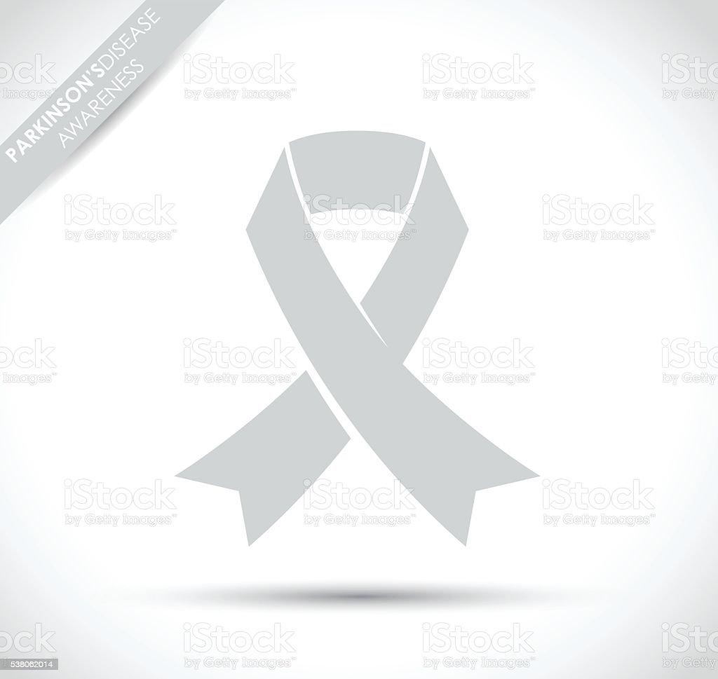 parkinsons disease awareness ribbon vector art illustration