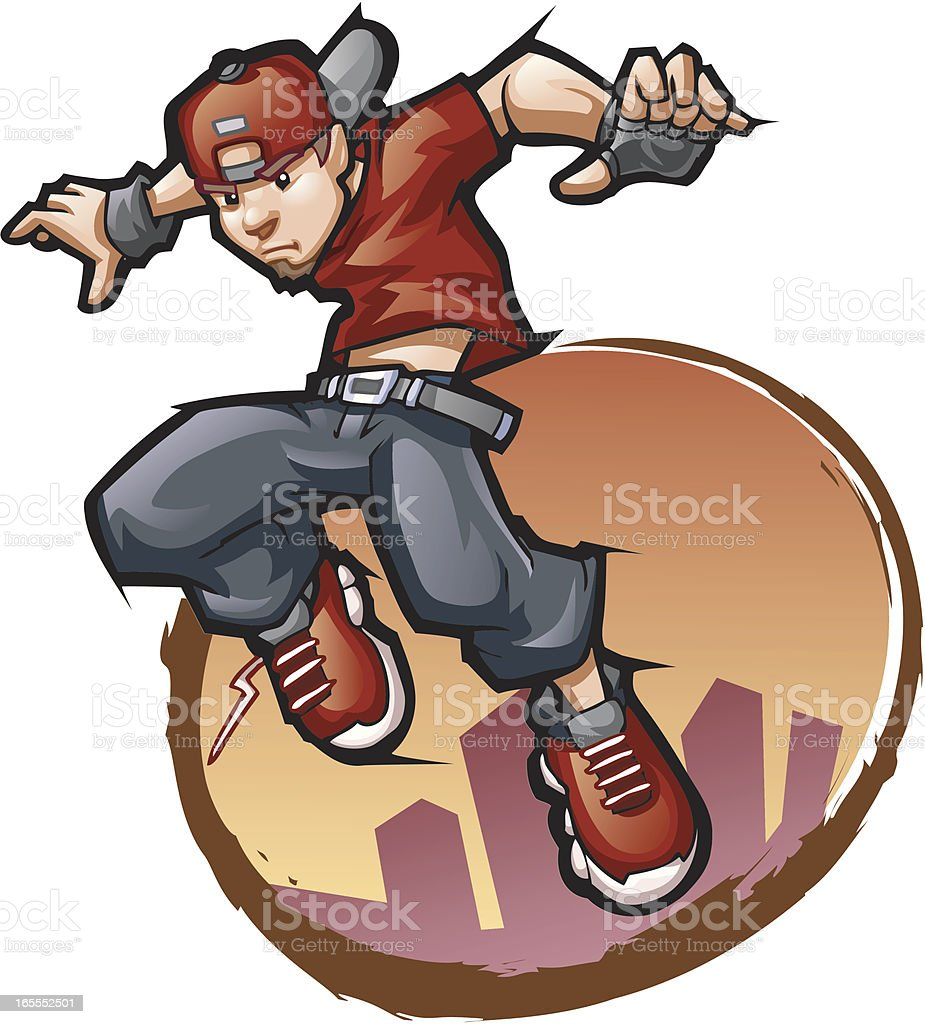 Parkour royalty-free stock vector art