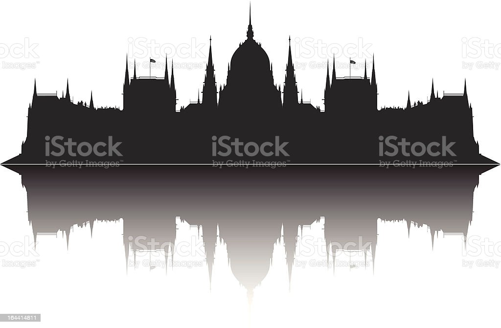 Parliament of Hungary royalty-free stock vector art