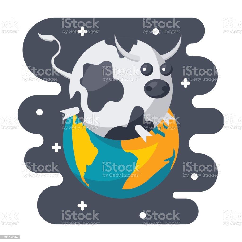 Parody Science Icon vector art illustration