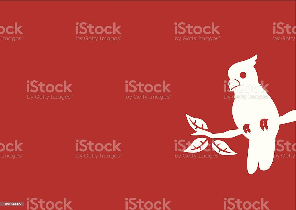 Parrot on a branch royalty-free stock vector art