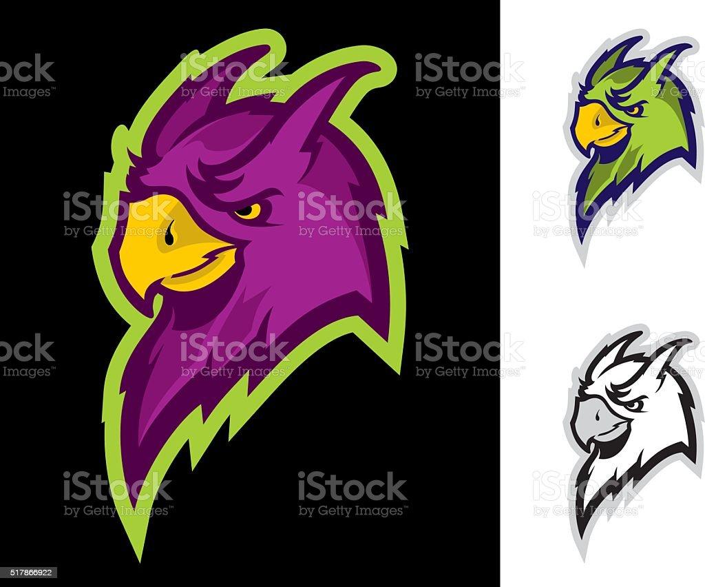 Parrot sport mascot vector art illustration