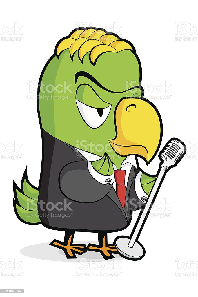 Parrot vector art illustration