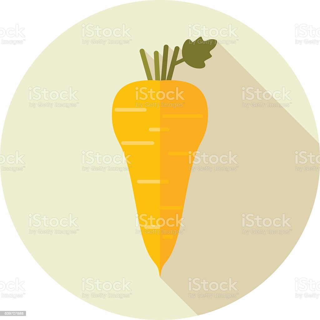 Parsnip root flat icon. Vegetable vector vector art illustration