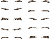 part of the male person s eyebrows.. Vector illustration.
