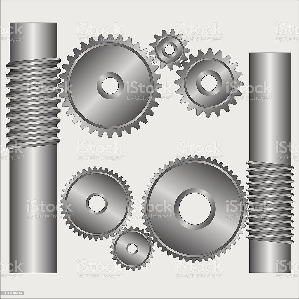 Part of the mechanism. royalty-free stock vector art