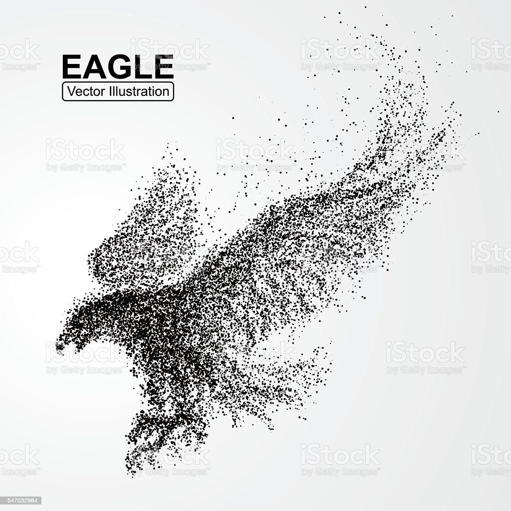 Particle Eagle, vector illustration composition vector art illustration