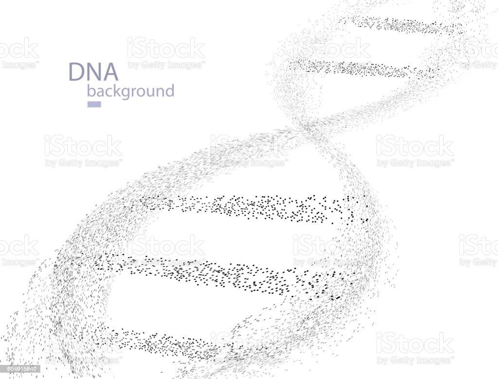 DNA Particles vector art illustration