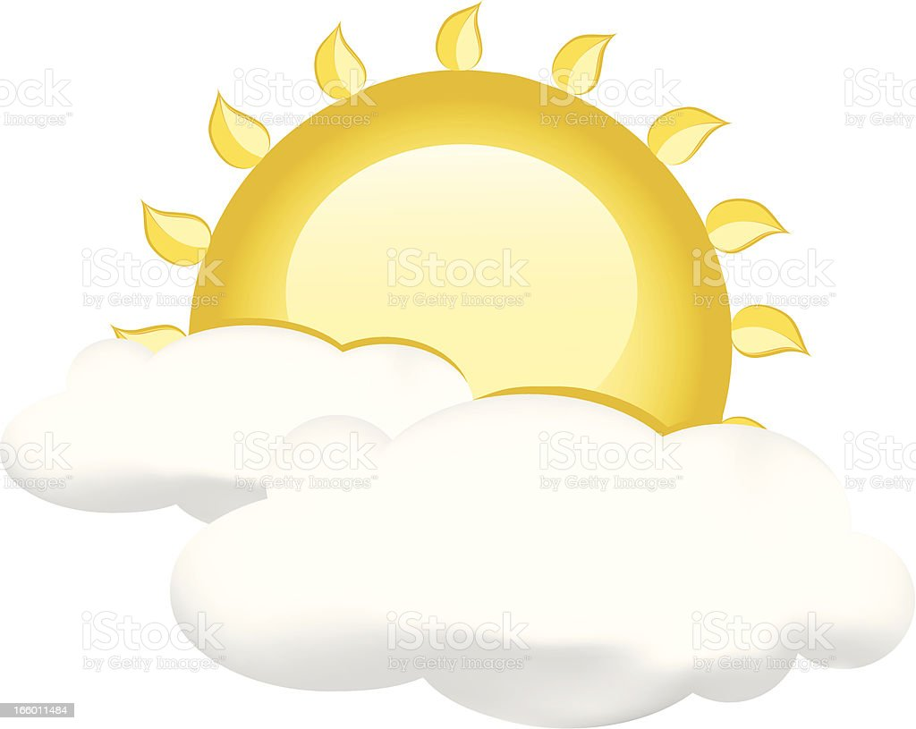 Partly Cloudy royalty-free stock vector art