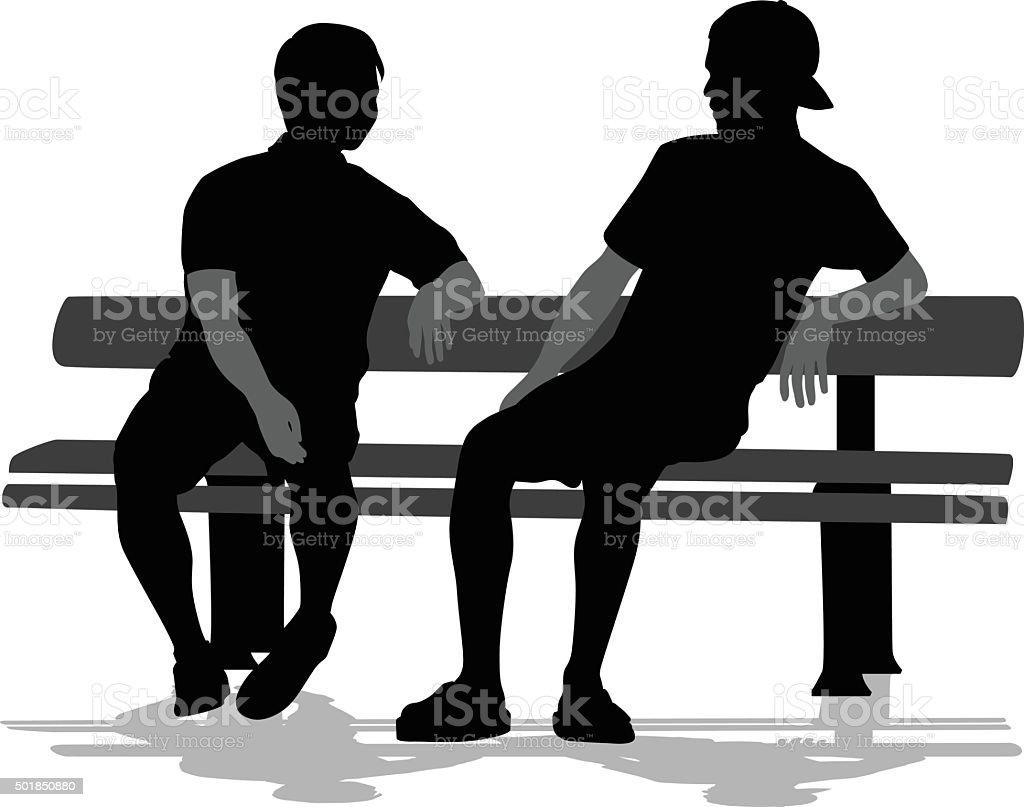 Partners vector art illustration