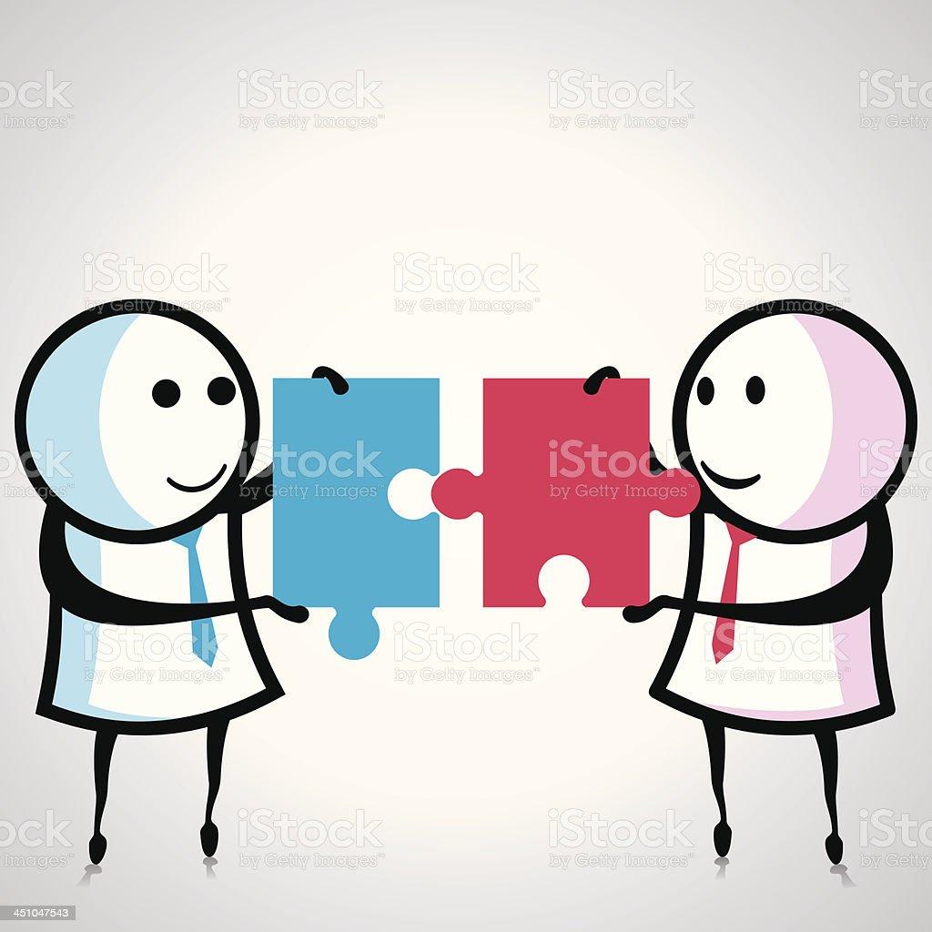 partnership concept royalty-free stock vector art