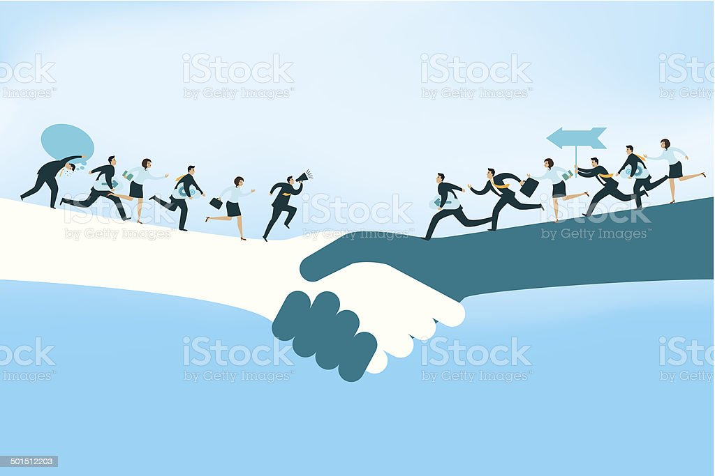 Partnership vector art illustration