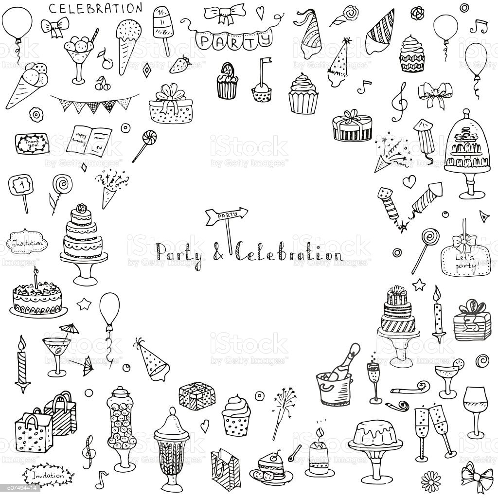 Party and Celebration vector art illustration