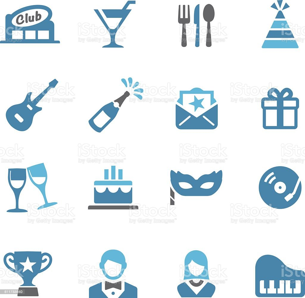 Party and Dinner Icons - Conc Series vector art illustration