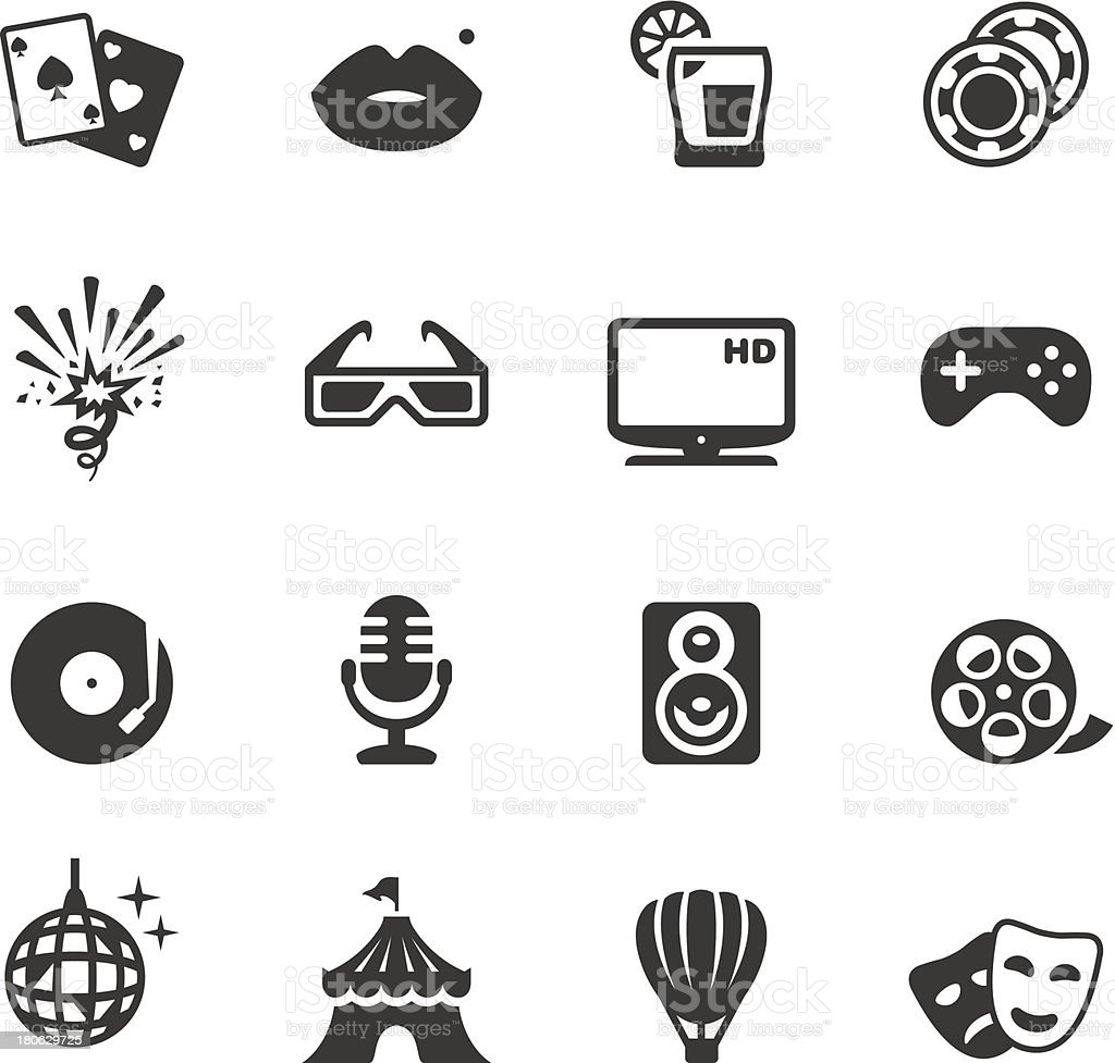 Party and entertainment icons vector illustrations royalty-free stock vector art