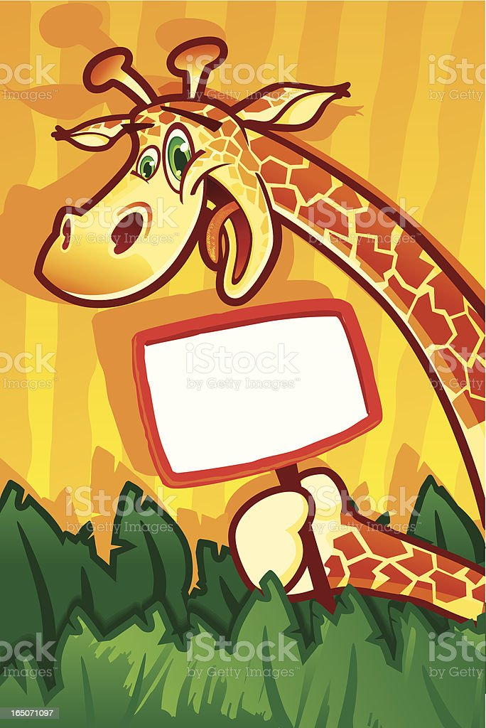 Party animal with sign royalty-free stock vector art