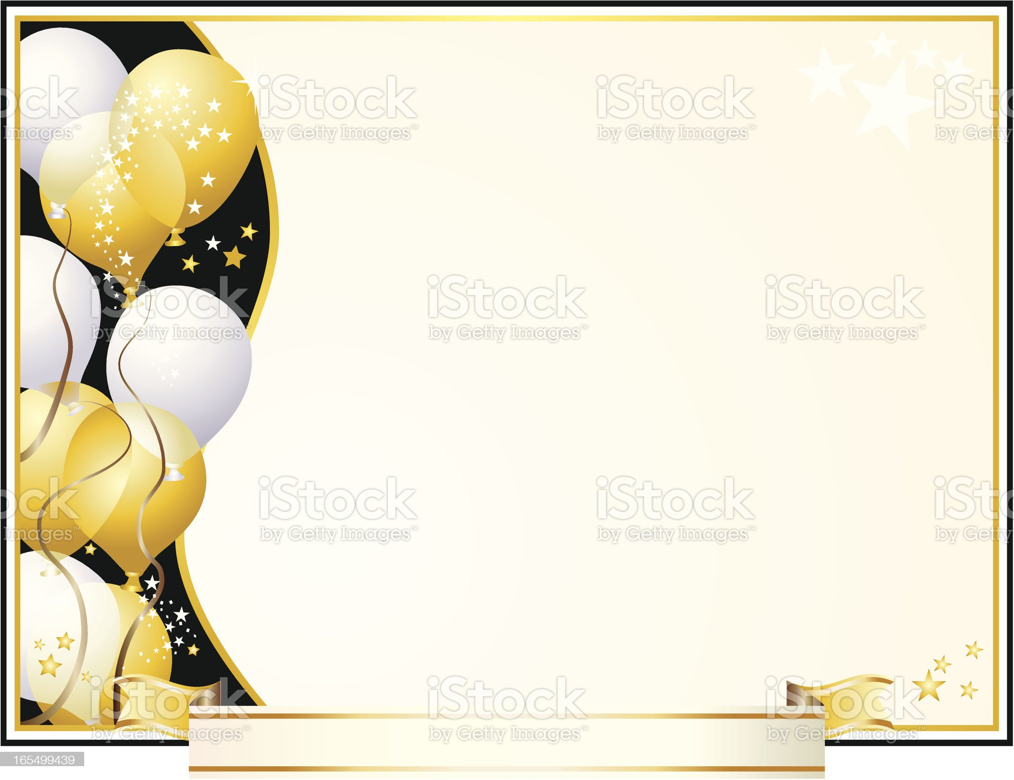 Party Award Certificate royalty-free stock vector art