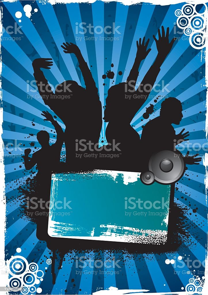 Party background blue royalty-free stock vector art