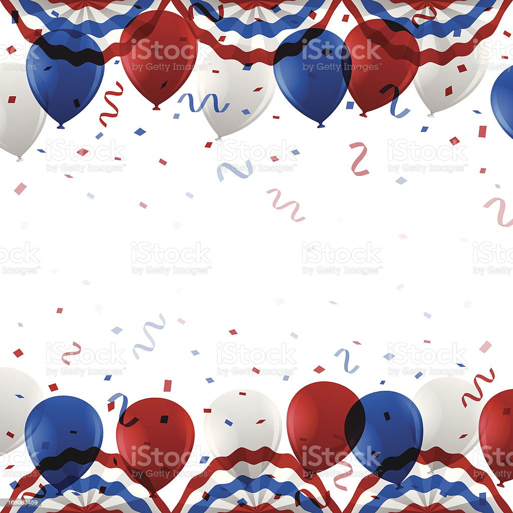 USA Party Background vector art illustration