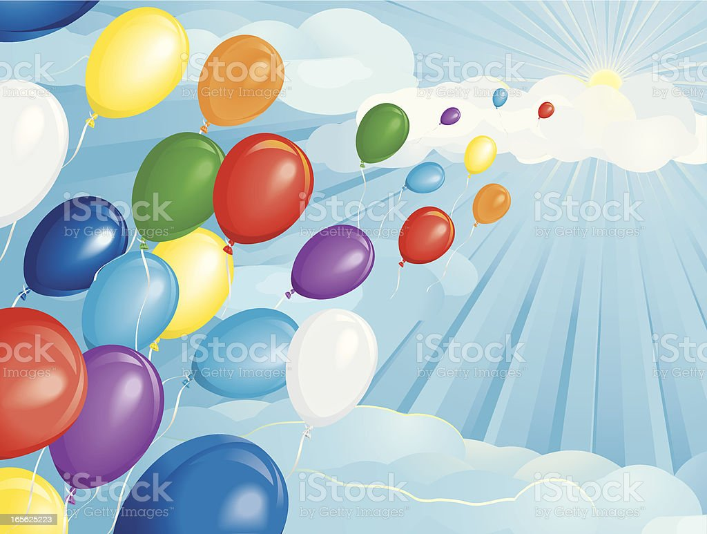 Party Balloon Race Horizontal royalty-free stock vector art
