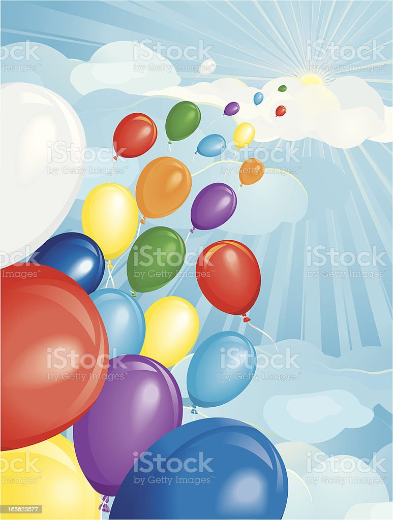 Party Balloon Race Vertical royalty-free stock vector art