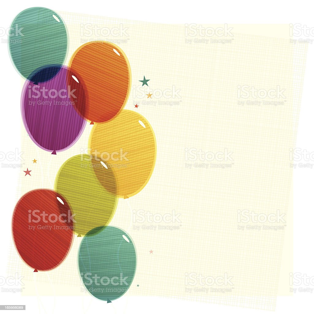 Party Balloons Background. EPS10 royalty-free stock vector art