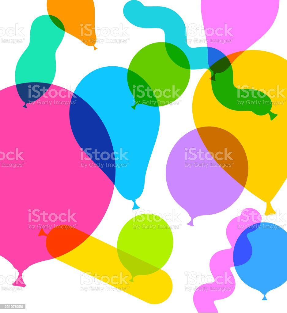 Party Balloons vector art illustration