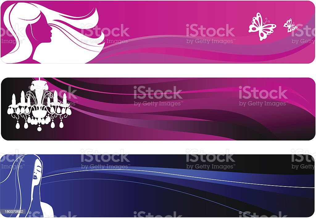 Party Banners royalty-free stock vector art