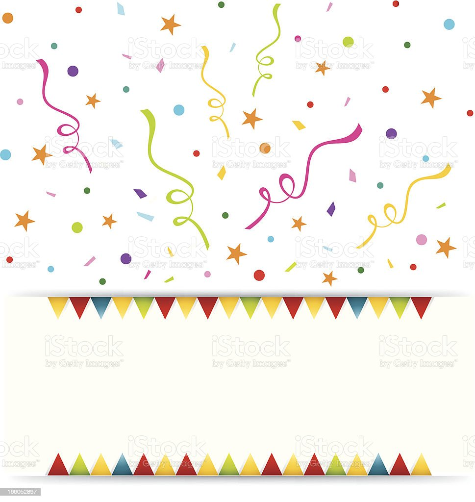 Party Celebration Banner vector art illustration