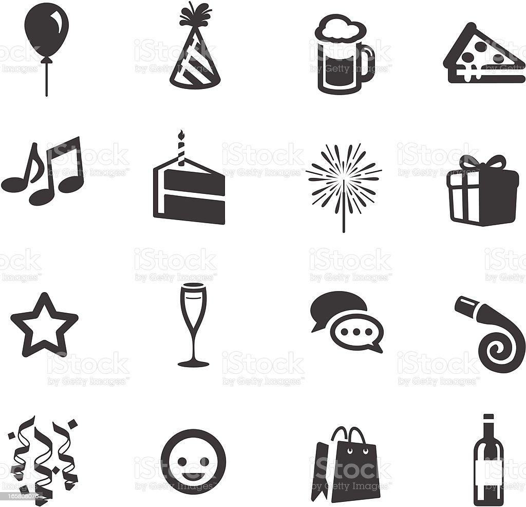 Party & Celebration Symbols vector art illustration