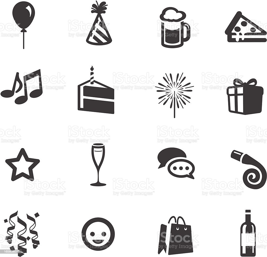 Party & Celebration Symbols vector art illustration