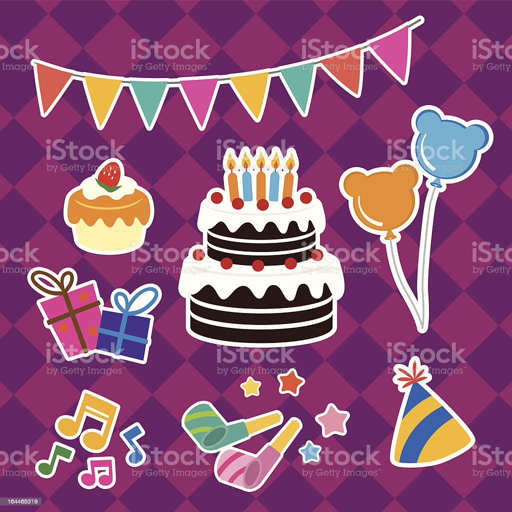 Party celebration utensils vector art illustration
