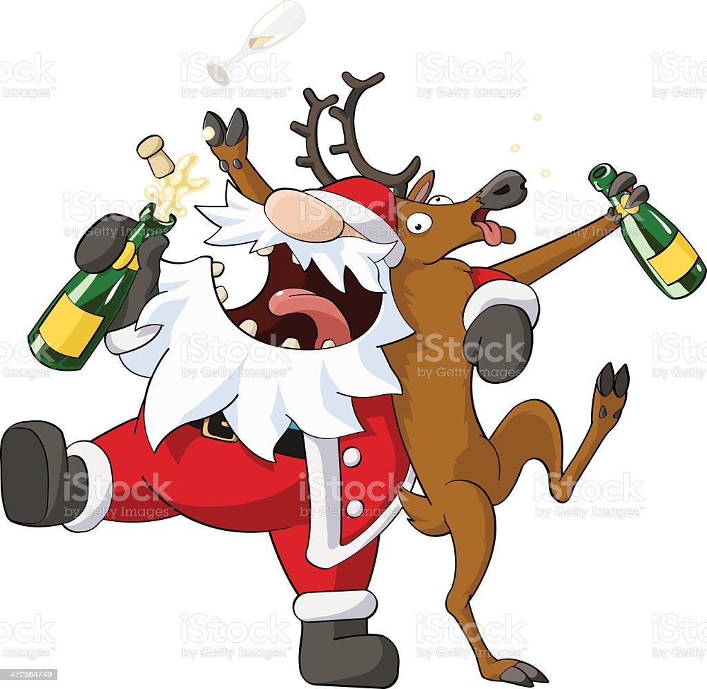 Party Christmas Cartoon vector art illustration