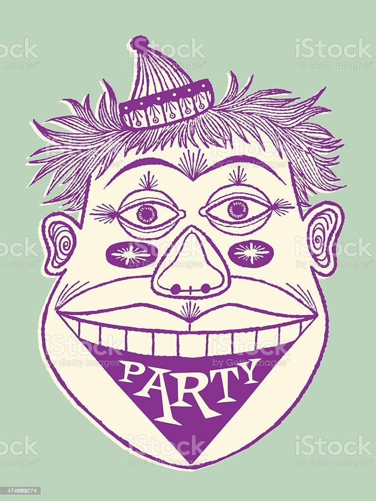 Party Clown vector art illustration