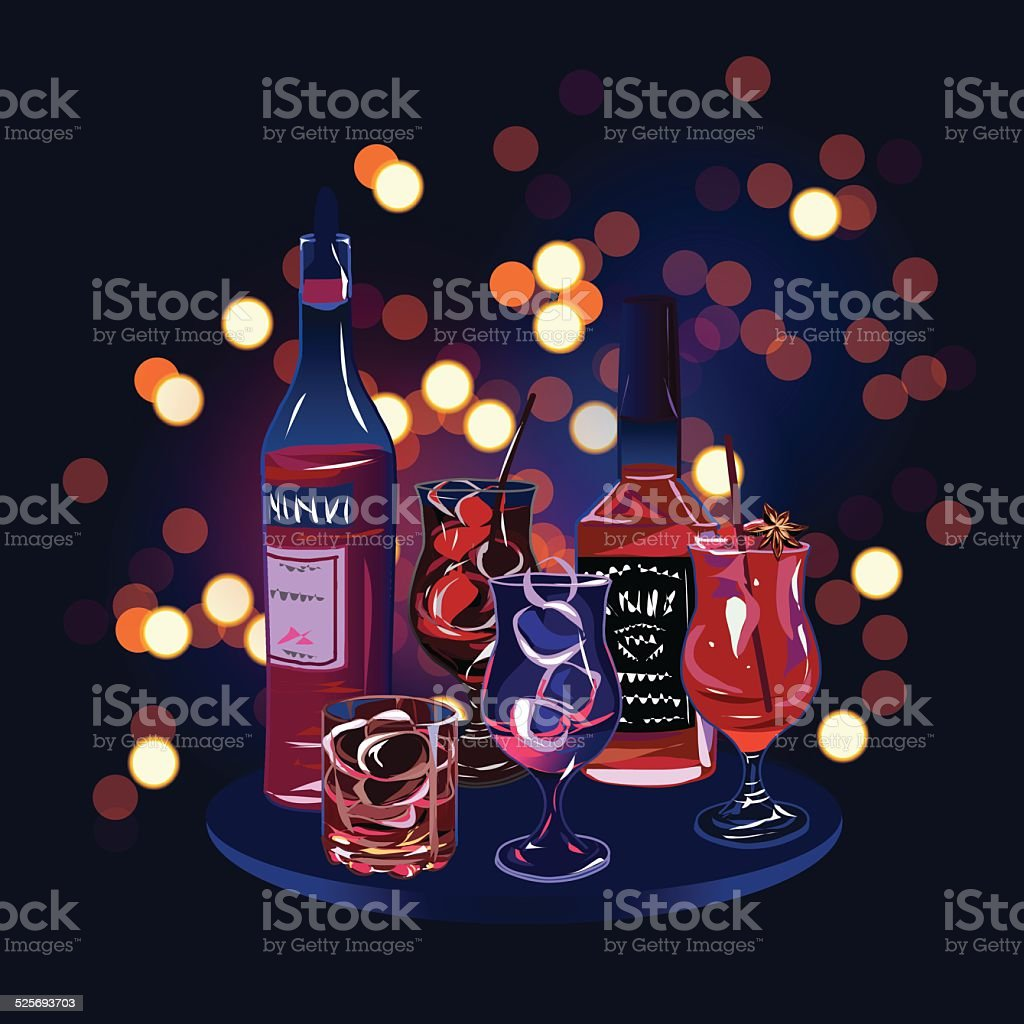 Party cocktail drinks design vector elements vector art illustration