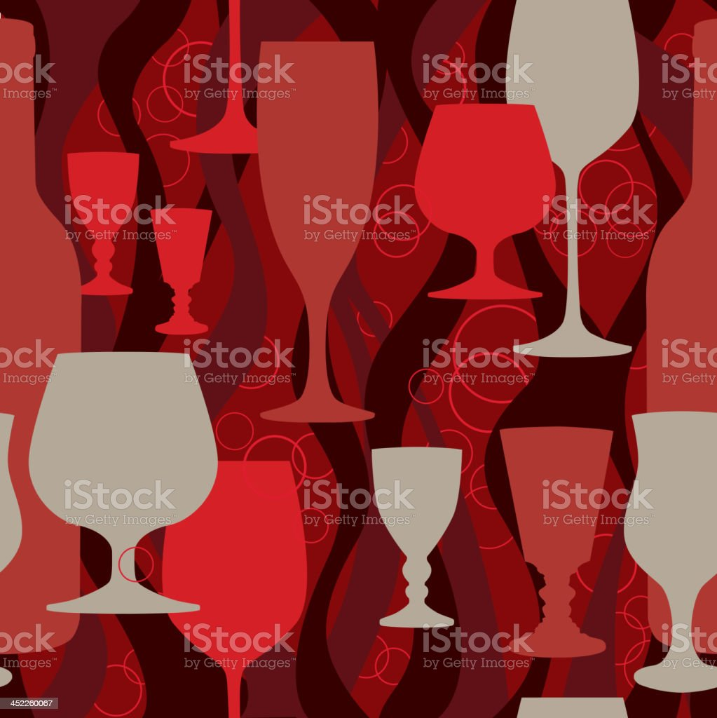Party cocktail seamless background. royalty-free stock vector art
