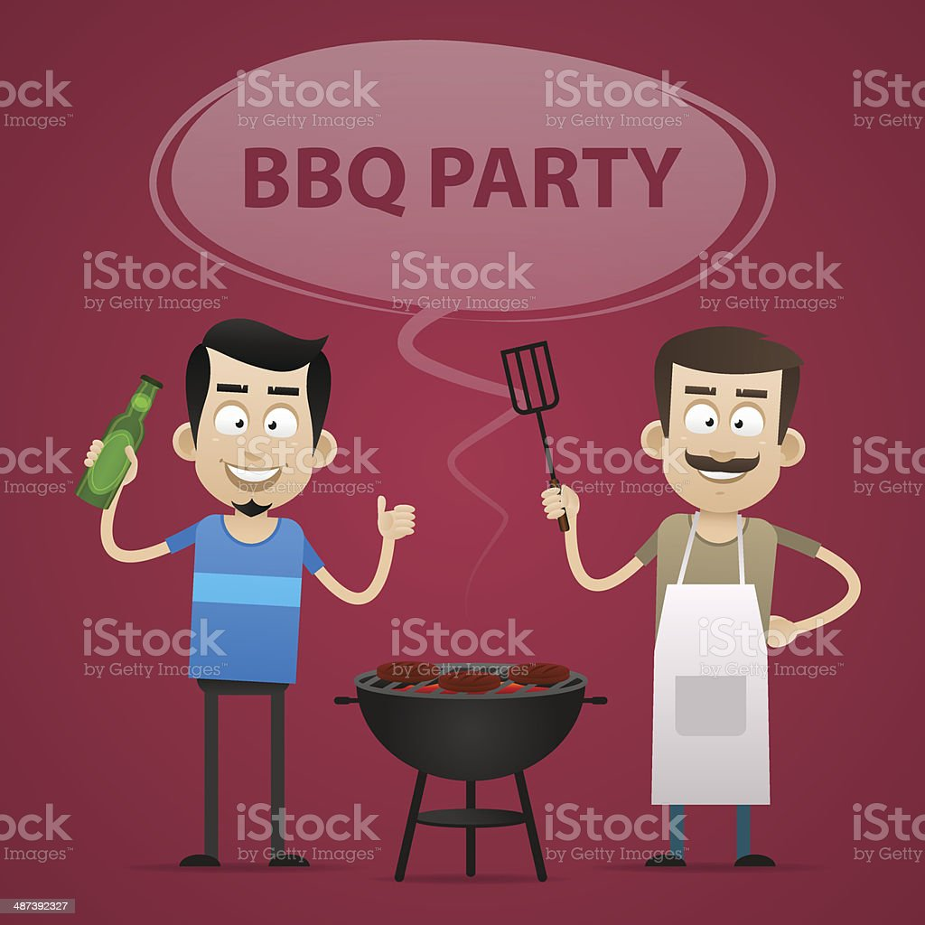 BBQ Party concept vector art illustration