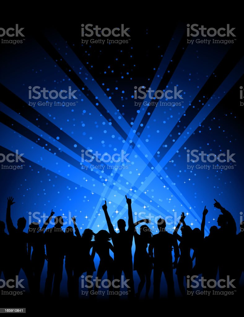 Party Crowd vector art illustration