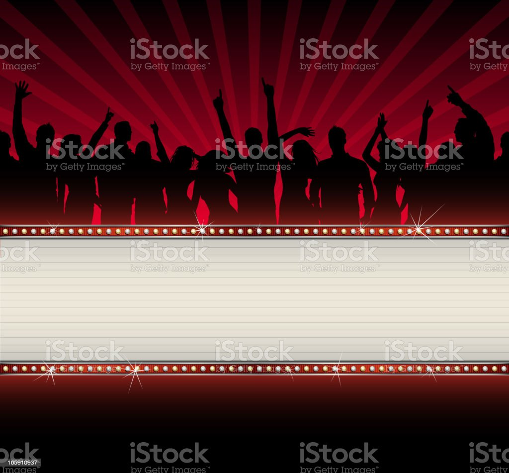 Party Crowd with Banner royalty-free stock vector art