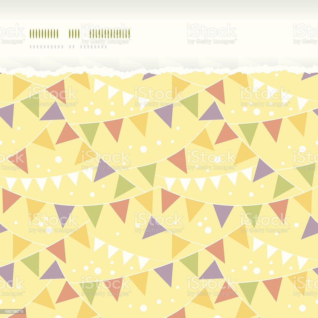 Party Decorations Bunting Horizontal Torn Seamless Pattern Background royalty-free stock vector art