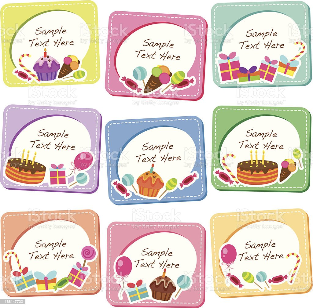 party desserts clip art vector art illustration