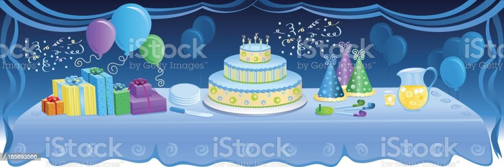 Party Essentials royalty-free stock vector art