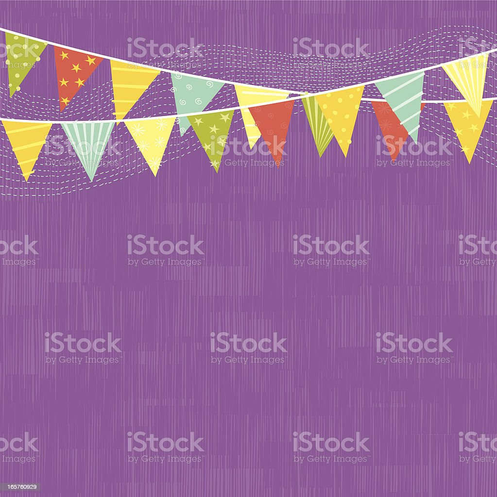 Party Flags vector art illustration