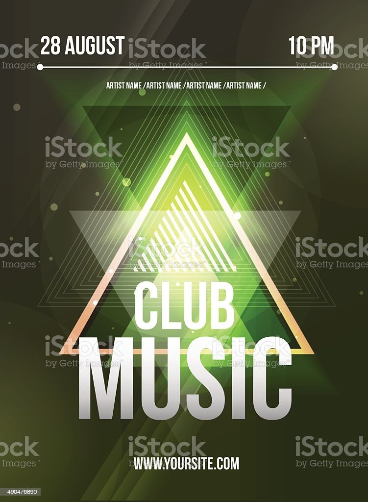 Party Flyer. Club music flyer. Dj lineup design. Vector template vector art illustration