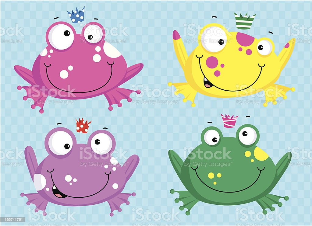 Party Frogs vector art illustration