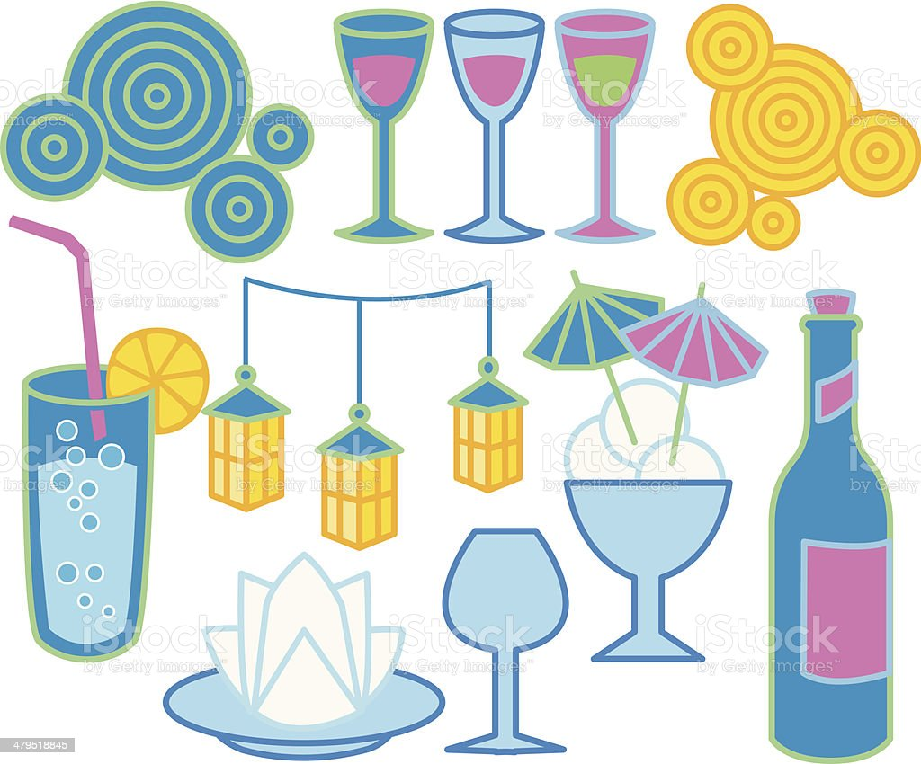 Party graphics royalty-free stock vector art