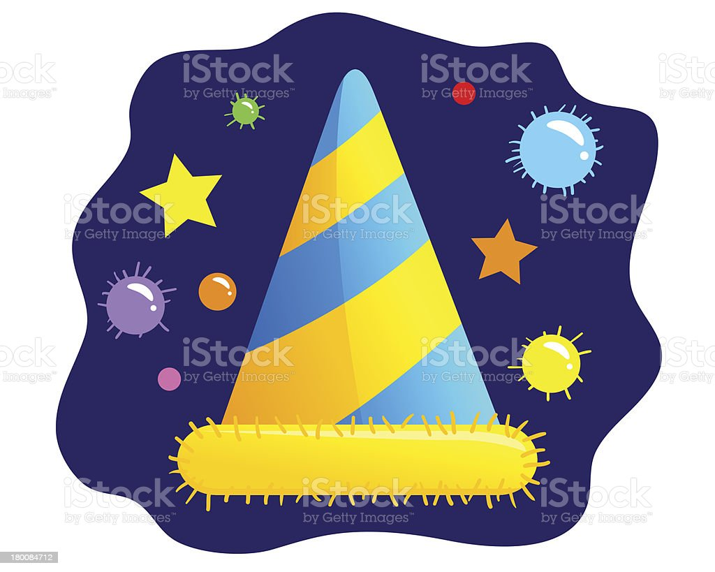 Party Hat Illustration royalty-free stock vector art