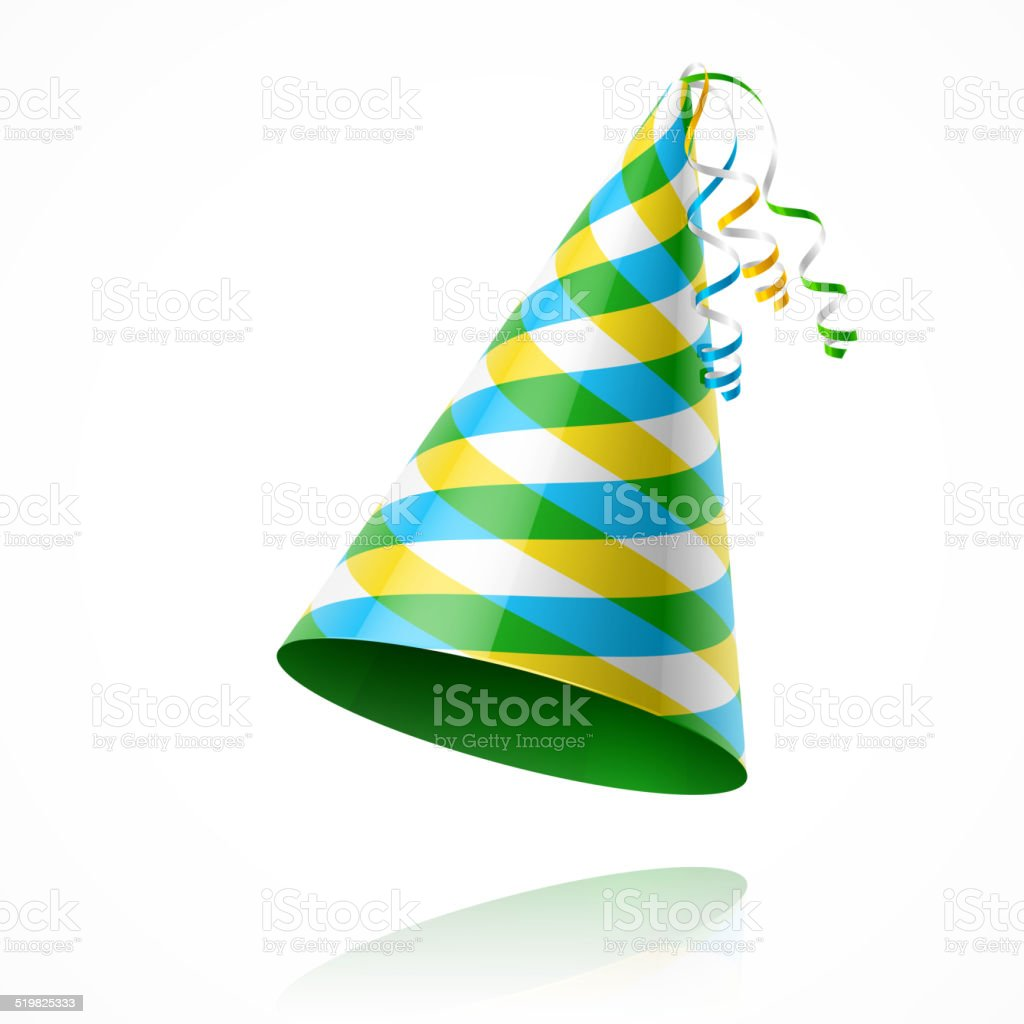 Party hat vector art illustration