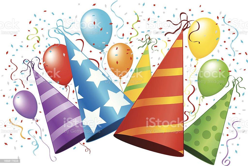 Party Hat Celebration vector art illustration