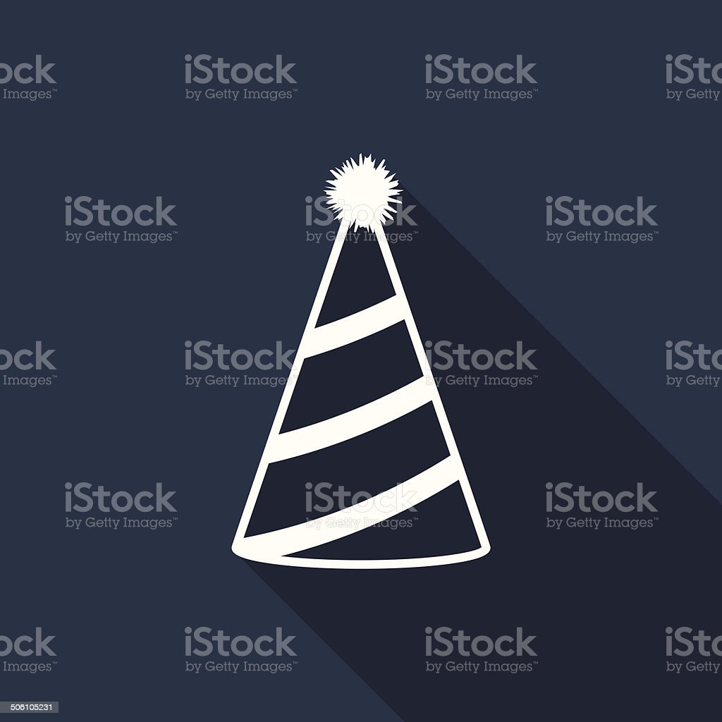 party hat icon vector art illustration